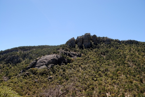 Rock formations in the Big Casa Blanca Canyon.