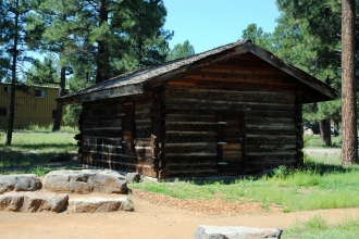 An old cabin that was near Frances Short Pond.