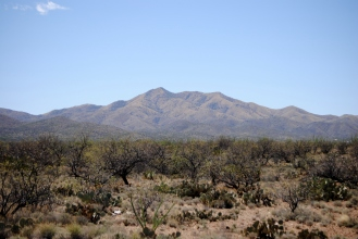 looking back at the Santa Rita Mountains.